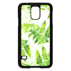 Fern Leaves Samsung Galaxy S5 Case (Black)