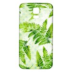 Fern Leaves Samsung Galaxy S5 Back Case (White) Front