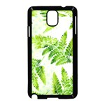 Fern Leaves Samsung Galaxy Note 3 Neo Hardshell Case (Black) Front