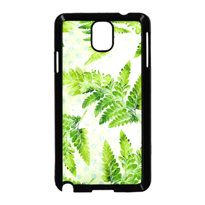 Fern Leaves Samsung Galaxy Note 3 Neo Hardshell Case (Black)