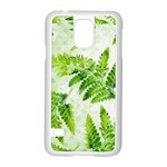 Fern Leaves Samsung Galaxy S5 Case (White) Front
