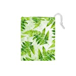 Fern Leaves Drawstring Pouches (Small)  Front