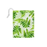Fern Leaves Drawstring Pouches (Small)  Back