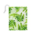 Fern Leaves Drawstring Pouches (Medium)  Back