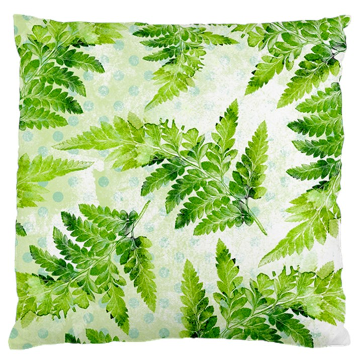 Fern Leaves Large Flano Cushion Case (Two Sides)