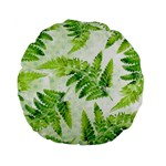 Fern Leaves Standard 15  Premium Flano Round Cushions Front
