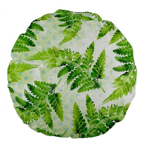 Fern Leaves Large 18  Premium Flano Round Cushions