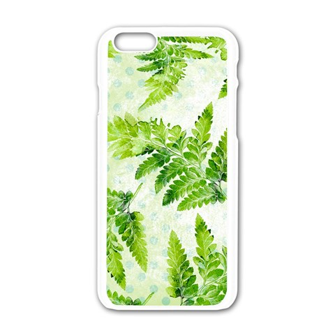 Fern Leaves Apple iPhone 6/6S White Enamel Case