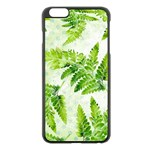 Fern Leaves Apple iPhone 6 Plus/6S Plus Black Enamel Case Front