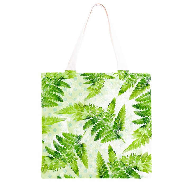 Fern Leaves Grocery Light Tote Bag