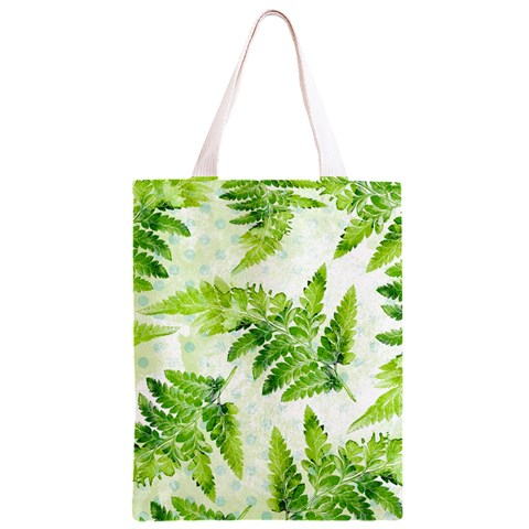 Fern Leaves Classic Light Tote Bag