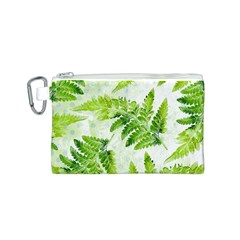 Fern Leaves Canvas Cosmetic Bag (S)