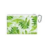 Fern Leaves Canvas Cosmetic Bag (S) Back