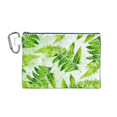 Fern Leaves Canvas Cosmetic Bag (m)