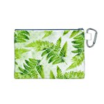 Fern Leaves Canvas Cosmetic Bag (M) Back
