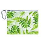 Fern Leaves Canvas Cosmetic Bag (L) Front