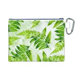 Fern Leaves Canvas Cosmetic Bag (L) Back