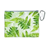 Fern Leaves Canvas Cosmetic Bag (XL) Back