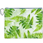 Fern Leaves Canvas Cosmetic Bag (XXXL) Front