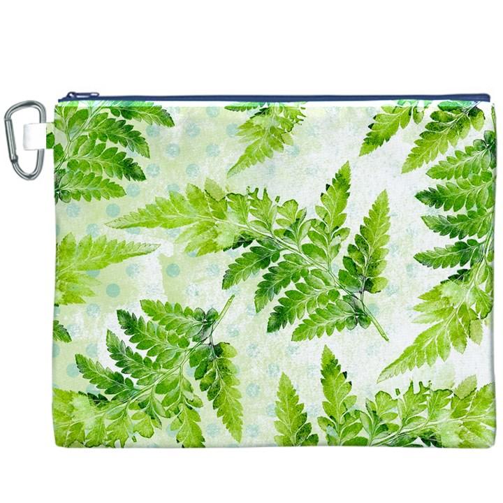 Fern Leaves Canvas Cosmetic Bag (XXXL)