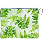 Fern Leaves Canvas Cosmetic Bag (XXXL) Back