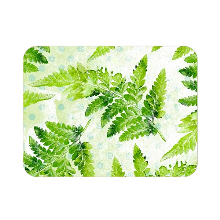 Fern Leaves Double Sided Flano Blanket (Mini)