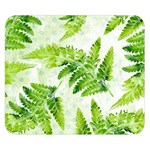 Fern Leaves Double Sided Flano Blanket (Small)  50 x40 Blanket Front