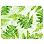 Fern Leaves Double Sided Flano Blanket (Medium)  60 x50 Blanket Front