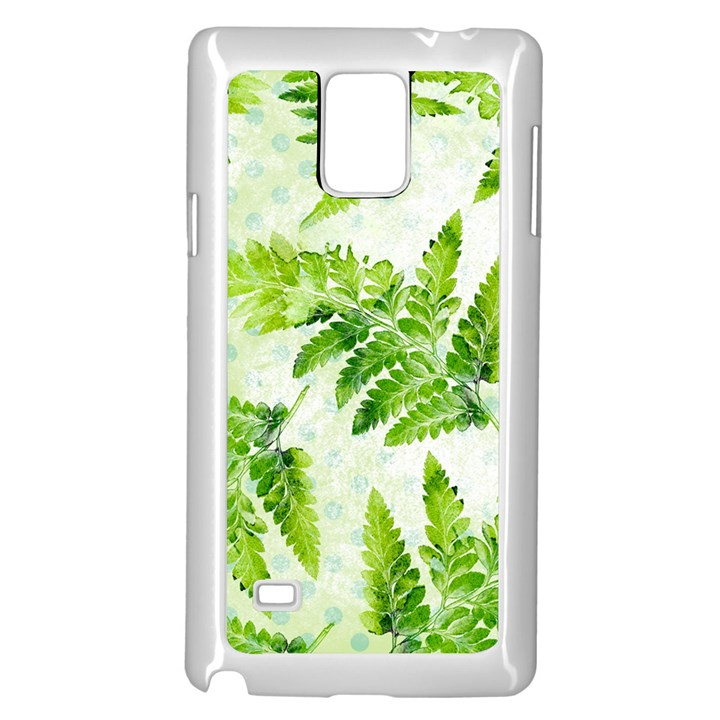 Fern Leaves Samsung Galaxy Note 4 Case (White)