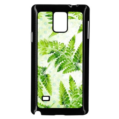 Fern Leaves Samsung Galaxy Note 4 Case (Black)