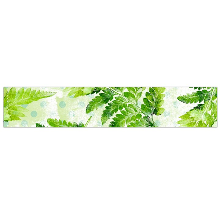 Fern Leaves Flano Scarf (Large)