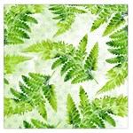 Fern Leaves Large Satin Scarf (Square) Front