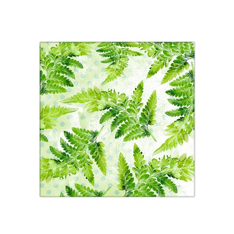 Fern Leaves Satin Bandana Scarf