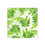 Fern Leaves Satin Bandana Scarf Front
