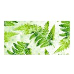 Fern Leaves Satin Wrap Front