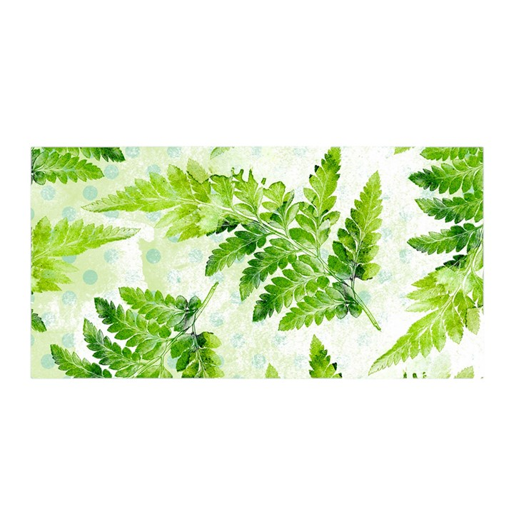 Fern Leaves Satin Wrap