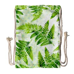 Fern Leaves Drawstring Bag (Large)