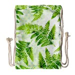 Fern Leaves Drawstring Bag (Large) Front