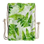 Fern Leaves Drawstring Bag (Large) Back