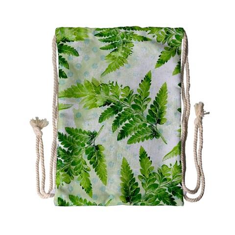 Fern Leaves Drawstring Bag (Small)