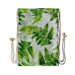 Fern Leaves Drawstring Bag (Small) Back