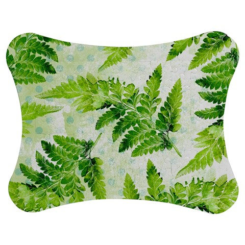 Fern Leaves Jigsaw Puzzle Photo Stand (Bow)
