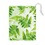 Fern Leaves Drawstring Pouches (Extra Large) Front