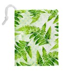 Fern Leaves Drawstring Pouches (Extra Large) Back