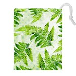 Fern Leaves Drawstring Pouches (XXL) Front