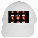Halloween brown owls  White Cap Front