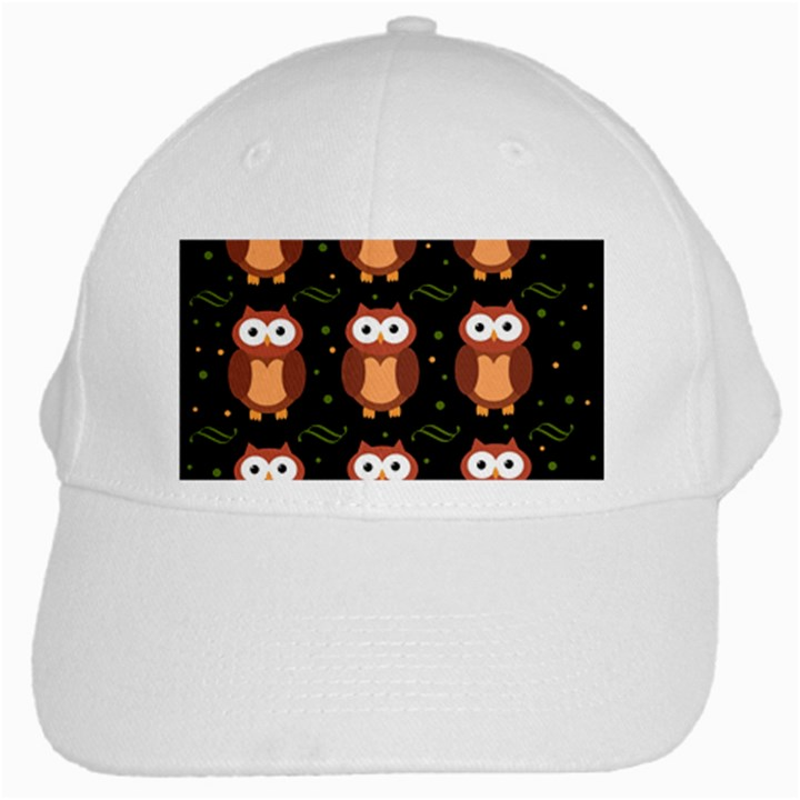 Halloween brown owls  White Cap