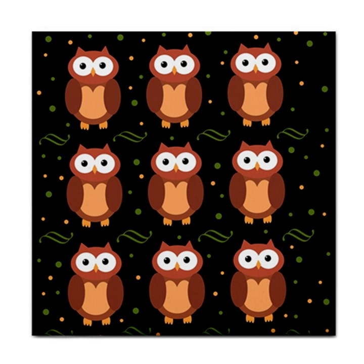 Halloween brown owls  Tile Coasters