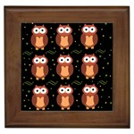 Halloween brown owls  Framed Tiles Front