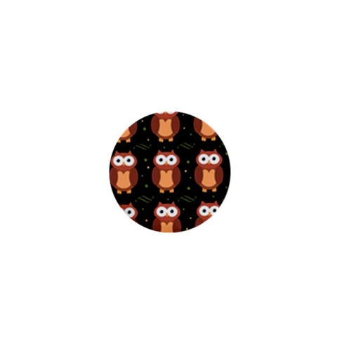 Halloween brown owls  1  Mini Magnets